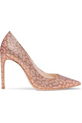 Sophia Webster Rio Leopard Print Glittered Lurex Pumps Pink