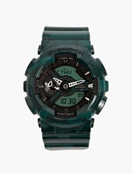Casio Green Metallic Camouflage Ga 100Cm Watch Blue
