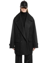 Juun.J Oversized Wool And Cashmere Peacoat