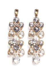 J.Crew Cascading Glass Earrings Metallic