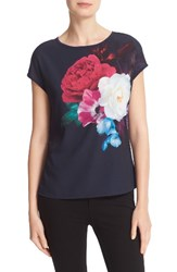 Ted Baker Women's London Zeana Blushing Bouquet Woven Front Tee