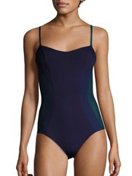 La Perla Plastic Dream One Piece Swimsuit Navy Blue