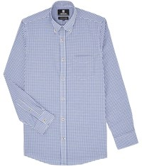 Austin Reed Regular Fit Blue Gingham Check Shirt