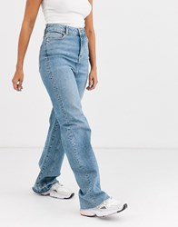 Free People Relaxed Straight Slouch Blue