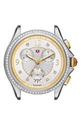 Michele Women's Belmore Chrono Diamond Diamond Dial Watch Case 37Mm
