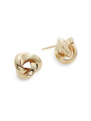 Nancy B 14K Yellow Gold Knot Stud Earrings