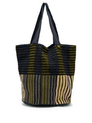 Guanabana Striped Woven Tote Bag Navy Multi