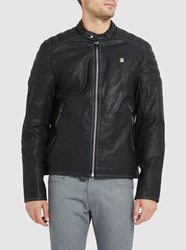 G Star Black Suzaki Quilted Shoulders And Elbows Biker Jacket