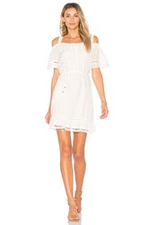 Ella Moss Brigitte Ruffle Dress White