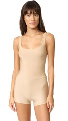 Only Hearts Club Second Skins Tank John Romper Nude