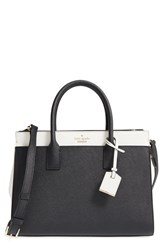 Kate Spade New York Cameron Street Candace Leather Satchel Black Black Cement