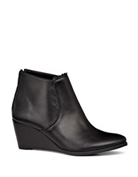 Jack Rogers Emery Leather Wedge Booties Black