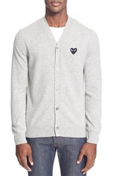 Men's Comme Des Garcons Lambswool Cardigan Grey