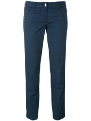 Jacob Cohen Fitted Tailored Trousers Blue