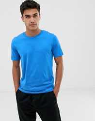 Selected Homme T Shirt In Pima Cotton Blue
