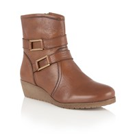 Lotus Loradi Leather Ankle Boots Brown