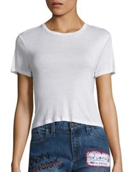 Alice Olivia Cindy Cropped Tee White