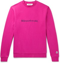 Billionaire Boys Club Logo Embroidered Loopback Cotton Jersey Sweatshirt Pink