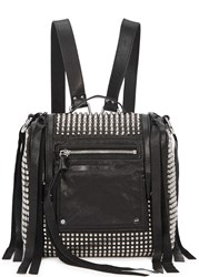 Mcq By Alexander Mcqueen Loveless Mini Studded Leather Backpack Black