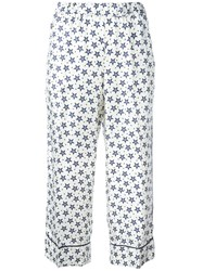 P.A.R.O.S.H. Star Print Trousers White