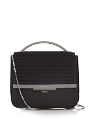 Eddie Borgo Colt Tech Leather Cross Body Bag Black