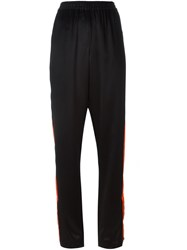 Givenchy Contrast Stripe Relaxed Trousers Black