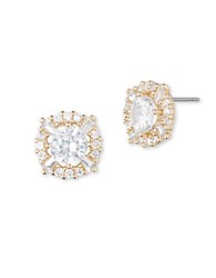 Anne Klein Cubic Zirconia Adorned Earrings Gold