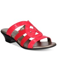 Karen Scott Emmee Slide Sandals Only At Macy's Women's Shoes Red