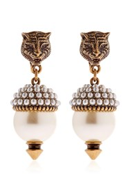 Gucci Imitation Pearl Clip On Earrings