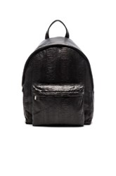Elisabeth Weinstock The Andes Backpack In Black Animal Print Black Animal Print