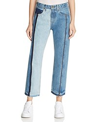 Rag And Bone Jean Two Tone Crop Jeans In Magnolia