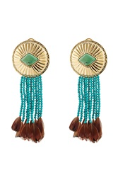 Aurelie Bidermann Aurelie Bidermann Navajo Earrings With Turquoise And Pheasant Feathers