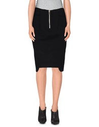 Uniqueness Skirts Knee Length Skirts Women Black