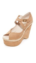 Free People Terrace Platform Wedges Pink