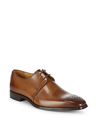 Saks Fifth Avenue Medallion Toe Dress Shoes Brandy