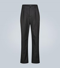 Valentino Double Pleated Technical Pants Black