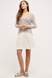 Maeve Hayleigh Denim Skirt Ivory