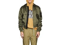 Filling Pieces B2 Logo Bomber Jacket Green