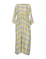 Rose' A Pois 3 4 Length Dresses Yellow