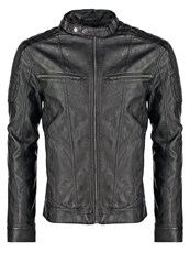 Tom Tailor Faux Leather Jacket Black