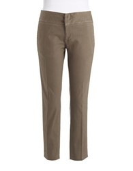 Lord And Taylor Petite Skinny Dress Pants Dark Olive