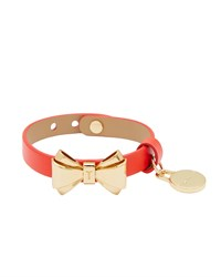 Ted Baker Lillian Leather Bow Bracelet Orange
