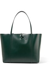 Kara Tie Leather Tote Emerald