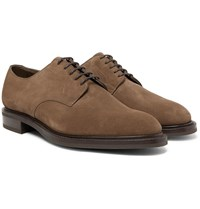 Edward Green Windermere Suede Derby Shoes Brown