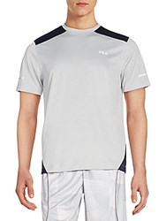 Fila Advance Colorblock Performance Tee Grey