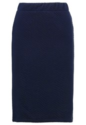 Adpt. Adptyoyo Pencil Skirt Dark Navy Dark Blue