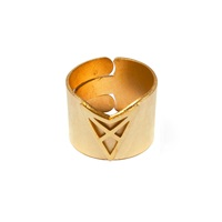Dutch Basics Hef Adjustable Broad Ring Gold
