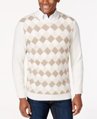 Club Room Cashmere Basket Weave Crew Neck Sweater Only At Macy's Ivory