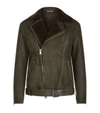 Allsaints Brennand Shearling Biker Jacket Male Black