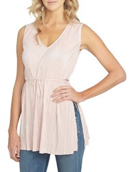 1.State At Leisure Textured Waist Tie Tunic Rosy Flush